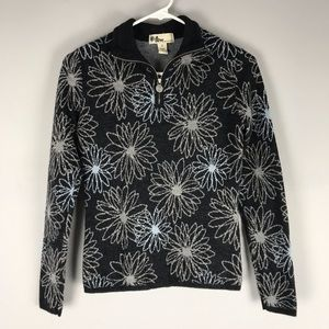 Neve designs ski 100% will 1/4 zip sweater floral